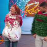 Gen And John Gidding Have An Ugly Christmas Sweater Showdown