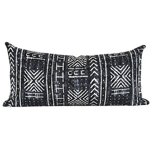 Mali Mud Cloth Lumbar Pillow